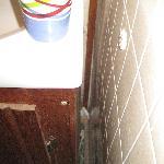 nasty on side of sink