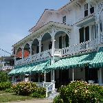 The front of the hotel and that LONG porch!