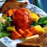 Colorful breakfast at Casita Corcovado