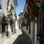 The street to Casa Banos
