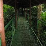 Suspension bridge to La Fortuna Waterfall lookout point