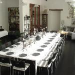 Conference Room set  for Dinner