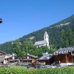 vista del paesino di Versciaco dall'Hotel Strasser