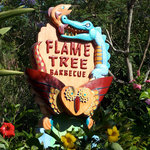Look for the Flame Tree sign