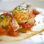 Skillet roasted day-boat sea scallops