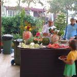 Fruit buffet during lunch