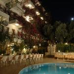 Oreo Hotel, Kas, Turkey pool at night