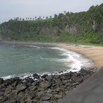 "the ""black sand"" beach"