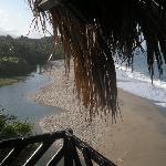 vom balkon unseres bettes