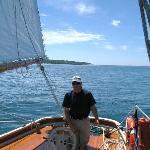 Captain Joe at the helm