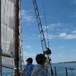enjoying our Schooner Lazy Jack sail on June 21 2010