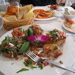 Yummy shrimp bruschetta