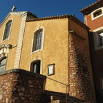 Roussillon church made of ochre