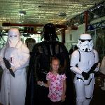 My neice with Darth Vader