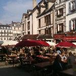 Troyes city square, just steps from the Clarion St. Jean