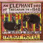 Visit the Elephant's resting place behuind the Talbot Hotel.