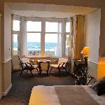 chambre mer terrasse bow window