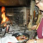 Rosina in her kitchen