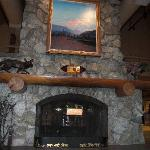 Fireplace at Princess McKinley Wilderness Lodge