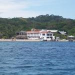 view of the hotel from the boat