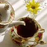 enjoy your tea at hotel SET