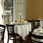 Mornings, enjoy our sunny breakfast room... afternoons, drop in for tea, coffee or hot chocolate