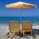 The local beach (Lourdas)