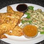 Herbed Chicken Fingers and pasta salad