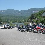 Motorcyles in one parking area of La Strada