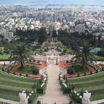 The Baha'i Gardens, about a 30 second walk from the hotel