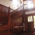 Staircase in main entry hall