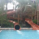 Pool slides were awesome