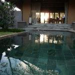 Reflections on the pool