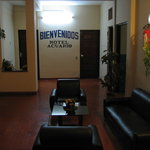Entrance / lobby to Hotel Acuario in Encarnacion, Paraguay