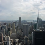 View from Top of the Rock with Empire State Building
