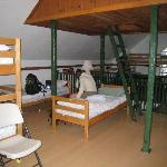 women's bunk room. Ladder leads to lookout with 360 degree view