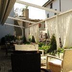 Terrace overlooking Lake Garda