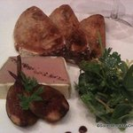 delicious liver mousse with toast points and grilled figs