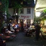Dinner in the courtyard, band played all evening