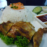 Nasi lemak with chicken