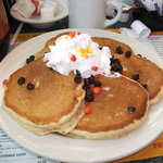 Peanut butter pancakes.....mmmmmm!