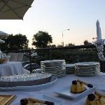 particolare cena terrazzo