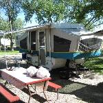 Campsite at Badlands/White River KOA