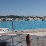 Pool view and Bosphorus