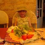 salade composée d'un enfant
