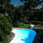 View from 6th floor room, towards the pool and the sea beyond.  Between the pool and the sea is