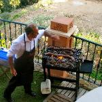 Francisco doing barbeque the Argentinian way