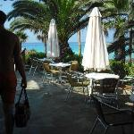 pool bar with veiws of the sea