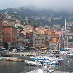 Fog rolling into Villefranche