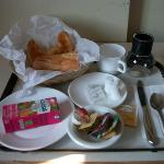 The complimentary breakfast at Hotel Le St. Andre.